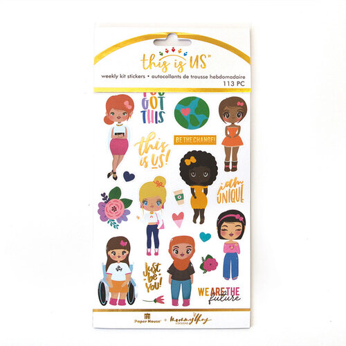 Paper House Productions - This Is Us Collection - Weekly Planner Kits - Stickers - Mommy Lhey