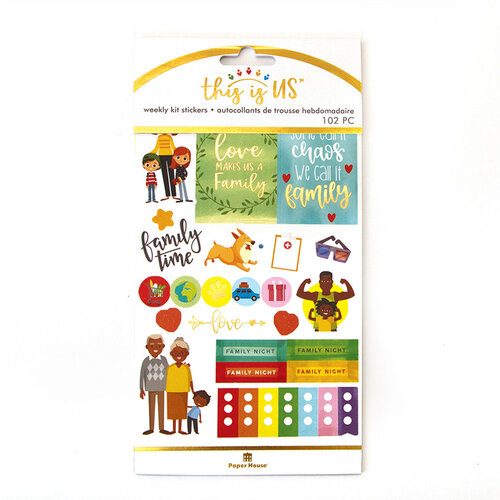 Paper House Productions - This Is Us Collection - Weekly Planner Kits - Stickers - Family Life