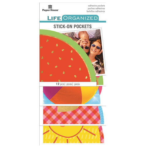 Paper House Productions - Life Organized Collection - Stick-On Pockets - Summer Fun