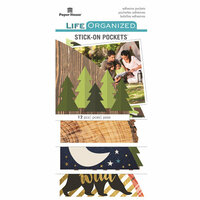 Paper House Productions - Life Organized Collection - Stick-On Pockets - Outdoors