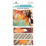 Paper House Productions - Life Organized Collection - Stick-On Pockets - Autumn Woods