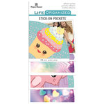 Paper House Productions - Life Organized Collection - Stick-On Pockets - Kawaii