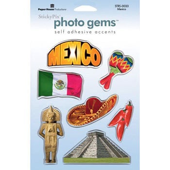 Paper House Productions - Mexico Collection - Epoxy Stickers - Mexico