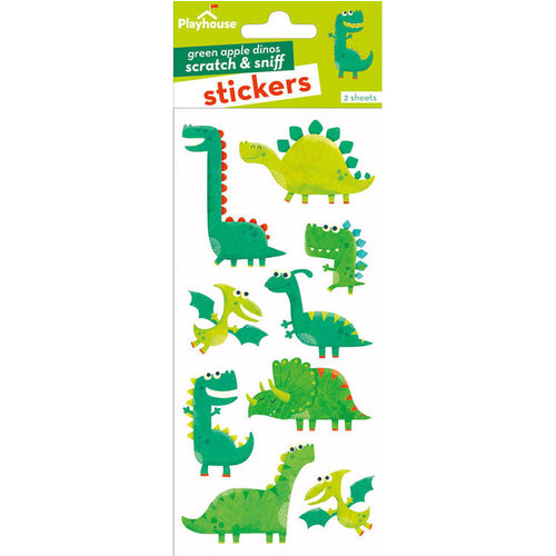 Paper House Productions - Scratch and Sniff Stickers - Green Apple Dinosaurs