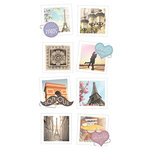 Paper House Productions - Snap Shots - Cardstock Stickers - Paris