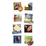 Paper House Productions - Snap Shots - Cardstock Stickers - Football