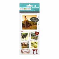 Paper House Productions - Snap Shots - Cardstock and Clear Stickers - Wine Country