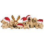 Paper House Productions - 3 Dimensional Stickers with Glitter and Jewel Accents - Christmas Puppies
