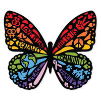 Paper House Productions - Stickers - Love is Love Butterfly