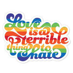 Paper House Productions - Wire and Honey Collection - Stickers - Love is a Terrible Thing to Hate