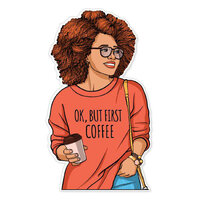 Paper House Productions - Goldmine and Coco Collection - Stickers - OK But First Coffee