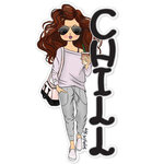 Paper House Productions - Sugar Gal Shop Collection - Chill Girl - Set Four