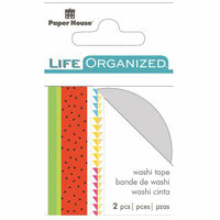 Paper House Productions - Life Organized Collection - Washi Stickers - Summer Fun with Foil Accents
