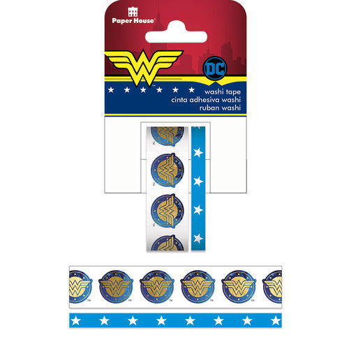 Paper House Productions - StickyPix - Washi Tape - Wonder Woman with Foil Accents