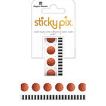 Paper House Productions - StickyPix - Washi Tape - Basketball with Foil Accents