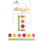 Paper House Productions - StickyPix - Washi Tape - Gerbera with Foil Accents
