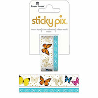 Paper House Productions - StickyPix - Washi Tape - Butterflies with Foil Accents