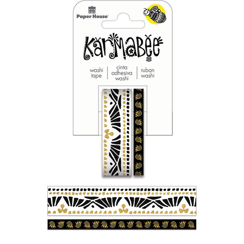 Paper House Productions - StickyPix - Washi Tape - Boat Pattern with Foil Accents