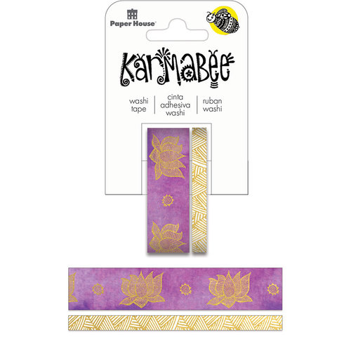 Paper House Productions Karmabee - Lotus w/foil Washi Tape