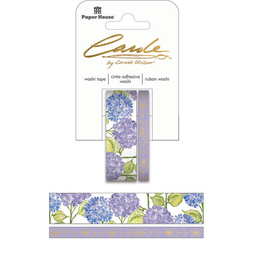 Paper House Productions - StickyPix - Washi Tape - Hydrangea with Foil Accents