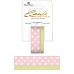 Paper House Productions - StickyPix - Washi Tape - Polka Dots - Green and Pink