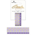 Paper House Productions - StickyPix - Washi Tape - Polka Dots - Lavender and Green