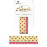 Paper House Productions - StickyPix - Washi Tape - Polka Dots - Dark Pink and Green
