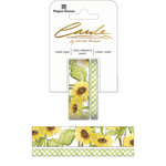 Paper House Productions - StickyPix - Washi Tape - Sunflower with Foil Accents