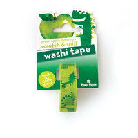 Paper House Productions - Washi Tape - Scratch and Sniff - Green Apple Dinosaurs