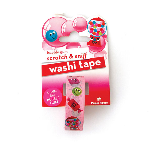Paper House Productions - Washi Tape - Scratch and Sniff - Bubble Gum