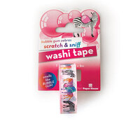 Paper House Productions - Washi Tape - Scratch and Sniff - Bubble Gum Zebras