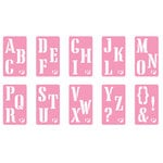 Pebbles Inc. - Chalk Stencils - Alphabet, CLEARANCE