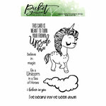 Picket Fence Studios - Clear Photopolymer Stamps - Sympathetic Unicorn