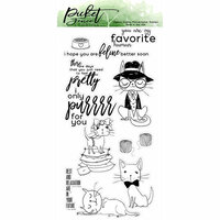 Picket Fence Studios - Clear Photopolymer Stamps - Pretty Kitties