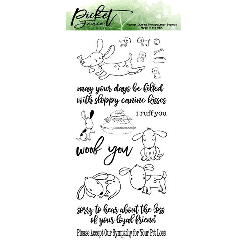 Picket Fence Studios - Clear Photopolymer Stamps - Friendly Mutts