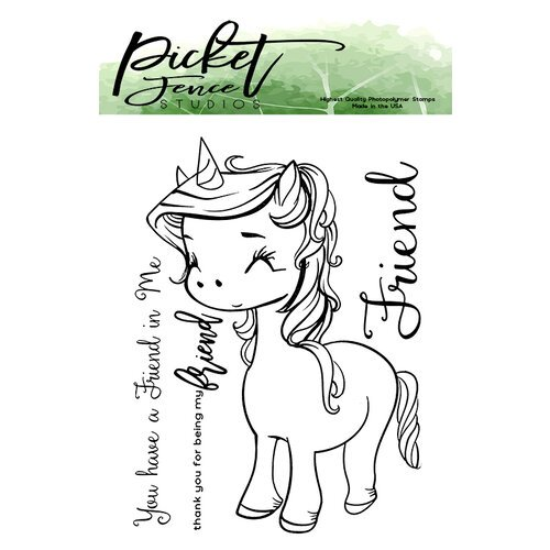 Picket Fence Studios - Clear Photopolymer Stamps - Unicorn Friend