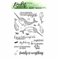 Picket Fence Studios - Clear Photopolymer Stamps - Be A Unicorn of the Sea