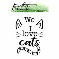 Picket Fence Studios - Clear Photopolymer Stamps - I Love Cats