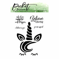 Picket Fence Studios - Clear Photopolymer Stamps - Magical Unicorn