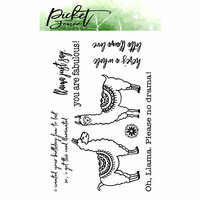 Picket Fence Studios - Clear Photopolymer Stamps - Lots of Llama Love