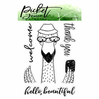 Picket Fence Studios - Clear Photopolymer Stamps - Hello, Beautiful