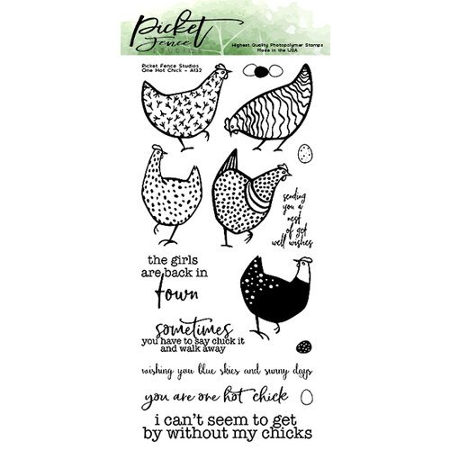 Picket Fence Studios - Clear Photopolymer Stamps - One Hot Chick