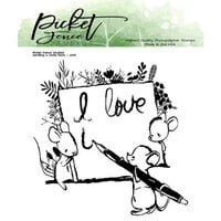 Picket Fence Studios - Clear Photopolymer Stamps - A Little Love Note