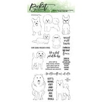 Picket Fence Studios - Clear Photopolymer Stamps - Pet All the Dogs