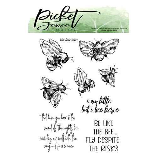 Picket Fence Studios - Clear Photopolymer Stamps - I Bee Fierce