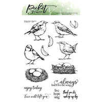 Picket Fence Studios - Clear Photopolymer Stamps - Songbirds