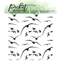 Picket Fence Studios - Clear Photopolymer Stamps - Birds In Flight