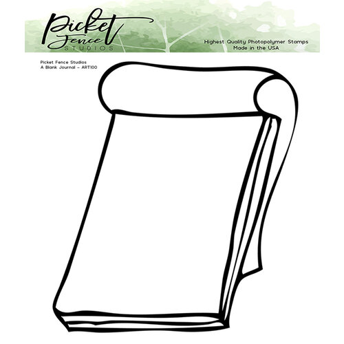 Picket Fence Studios - Clear Photopolymer Stamps - A Blank Journal