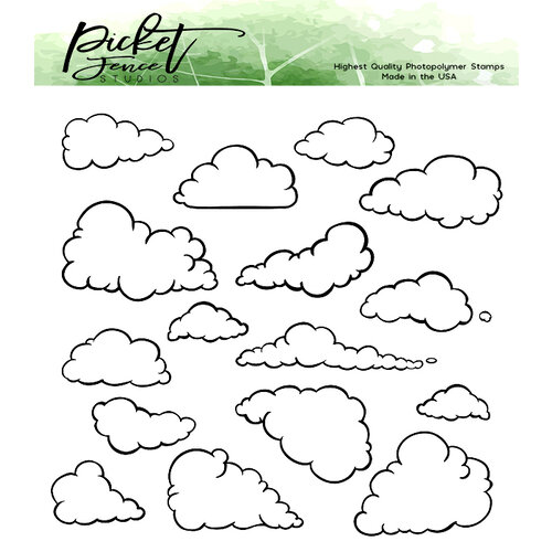 Picket Fence Studios - Clear Photopolymer Stamps - On a Cloud of Dreams
