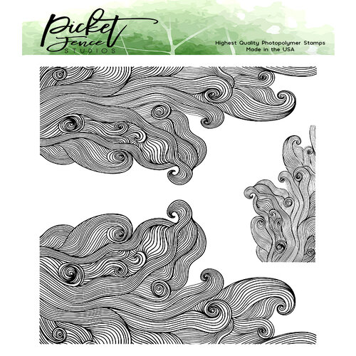 Picket Fence Studios - Clear Photopolymer Stamps - On the Ocean
